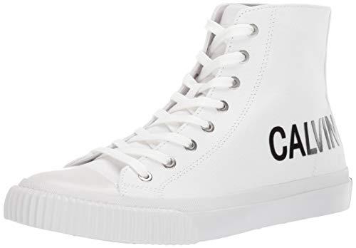 CK Jeans Men's IACOPO Shoe, White Canvas, 8 M US