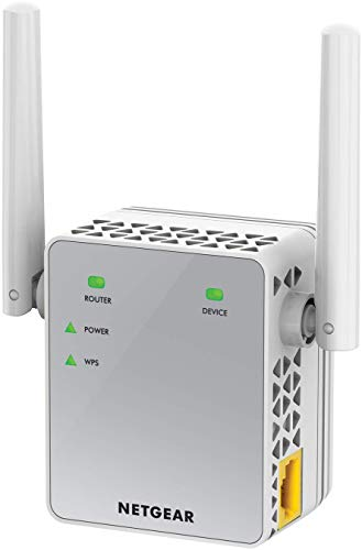 Netgear WLAN Repeater EX3700 WLAN Verstaerker & Super-Boost WiFi (AC750 Dual Band, Abdeckung 2 bis 3 Räume & 15 Geräte, Geschwindigkeit bis zu 750 MBit/s, kompaktes Design)
