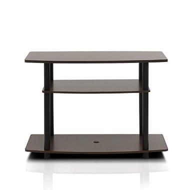 Furinno 13192EX/BK Turn-N-Tube No Tools 3-Tier TV Stand, Espresso/Black