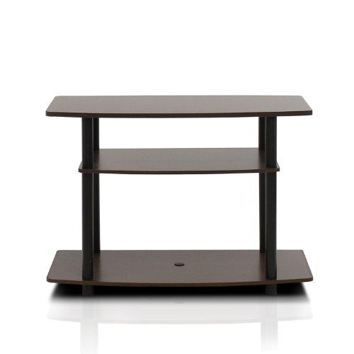Furinno Turn-N-Tube No Tools 3-Tier TV Stand, Espresso/Black