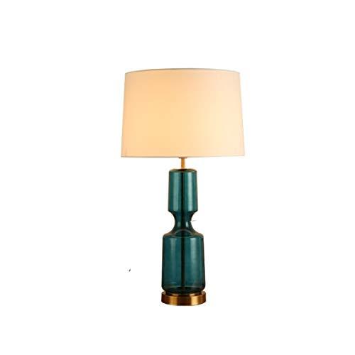 JJZXD Lámpara de Mesa de Cristal de Vidrio Verde for el Dormitorio for la Forma de la Calabaza de la Sala de Tabla el Moderno Lámparas de Leer la lámpara Decoración