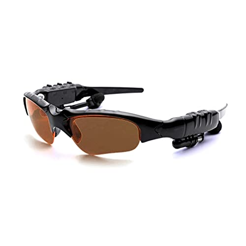 Pinzheng Hombres Gafas al aire libre Bluetooth Gafas de sol Auriculares inalámbricos Auriculares Escuchar canciones Manos libres Bluetooth auriculares para montar (Color : Navy blue)