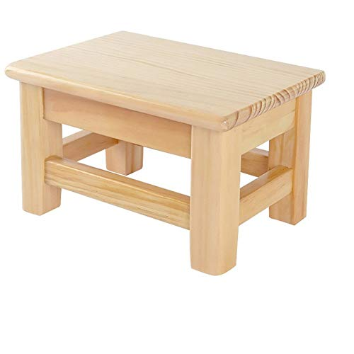 Lage Kruk Shoe Bench Child Small Bench Wood Household Planken Kruk Vierkant Kruk Living Room Step houten kruk Badkamer (Color : A, Size : 28 * 20 * 25cm)