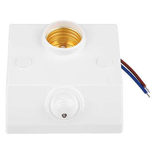 Interruptor de luz del detector del sensor de movimiento, interruptor del sostenedor del enchufe de la bombilla del detector de movimiento del sensor de microondas del radar