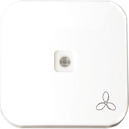 OPUS® 1 Wippe mit transparenter Linse und Ventilator-Symbol Farbe alpinweiß
