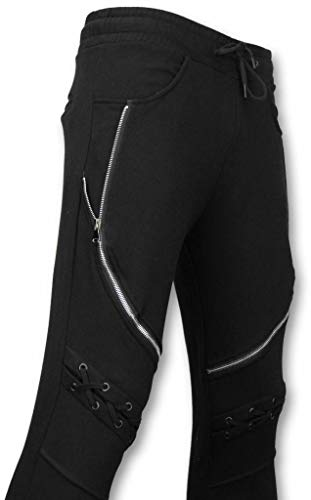 Casual Joggingbroek - Biker Braided - Zwart