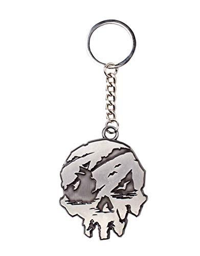 Sea Of Thieves Porte-Clés Keychain Skull Logo Nouveau Officiel Gris
