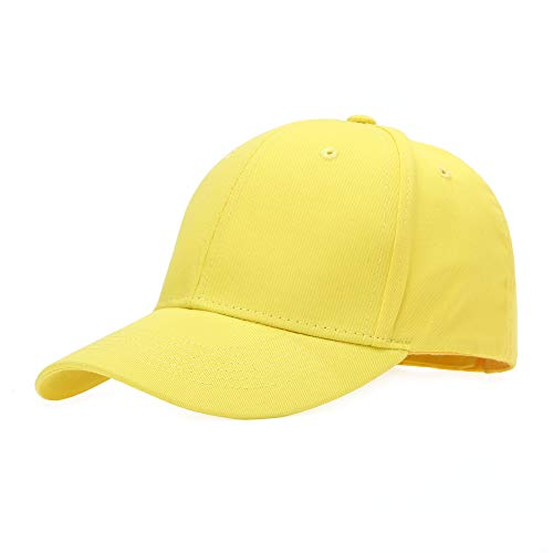 Baseballcap Unisex Käppi Cap Baseballmütze Schirmmütze Damen Herren Hip-Hop-Mütze, Einheitsgröße, Gelb