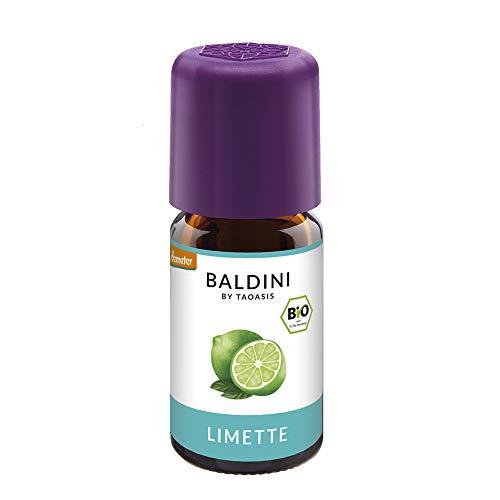 Baldini - Limettenöl BIO, 100{62e877cf742050366f9f7235396898fd4bb013c16c25220b69a9c4e26ecdba41} naturreines ätherisches BIO Limetten Öl fein, Bio Aroma, 5 ml