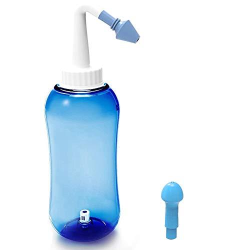 JORSHAKE Nasendusche · für Erwachsene & Kinder Nasenspülung Nasenreinigung Nase Spülen 500 ml mit Zwei Aufsätze für Kindern und Erwachsenen bei Schnupfen/Allergie/Trockener Nase