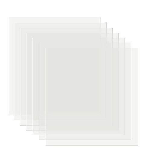 SIYI-XIU 15 PCS Blank Mylar Stencil Sheets-Crea il Tuo Stencil Fogli di Stencil Vuoti Quadrati Vuoti in Mylar