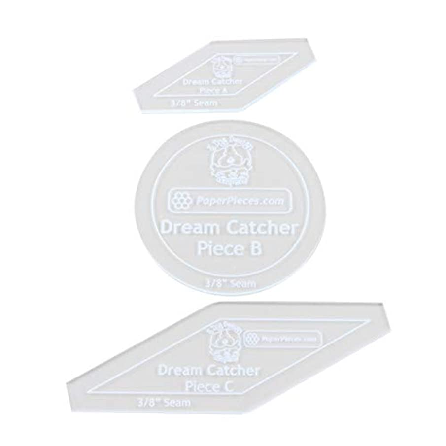 Paper Pieces ACRDRMCTRADN Acrylic Fabric Cutting Template for Dream Catcher Finishing Set 14, None