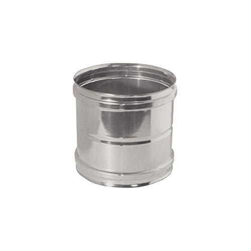 Manicotto femmina/femmina in acciaio inox per canne fumarie (DN 250)