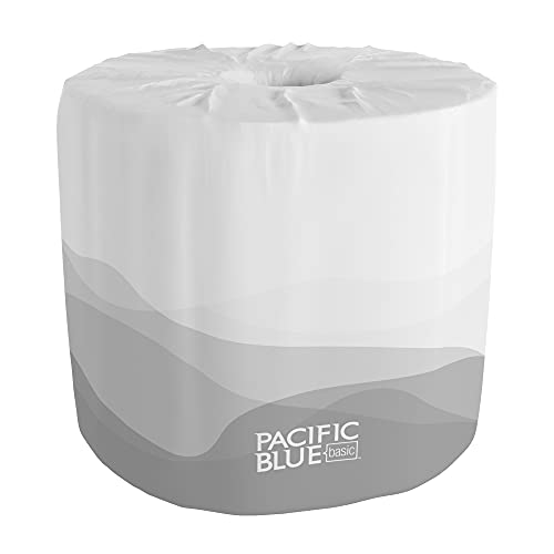 Pacific Blue Basic 2-Ply Embossed Toilet Paper (previously branded Envision), 19880/01, 550 Sheets Per Roll, 80 Rolls Per Case