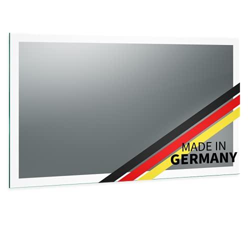Spiegel ID Noemi Design: LED BADSPIEGEL mit Beleuchtung - Made in Germany - individuell nach Maß - Auswahl: Breite 80 x Höhe 60 cm - Modell: 2201001 - LED Lichtfarbe: neutralweiß