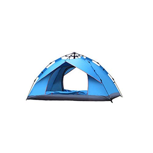 Mdsfe Automatic Pop Up Outdoor Family Camping Tents Seasons Tourist Tent Anti-Mosquito Nsect-Proof Ventilation Waterproof Camping Tent - Sky blue 1-2 people, A4