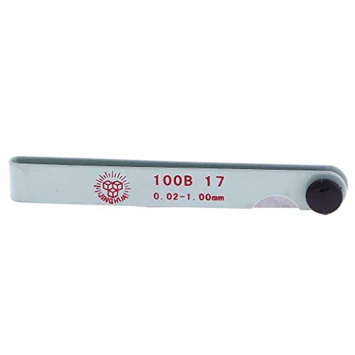 ViewSys Métricas calibrador de Grueso de 17 válvulas for Velas Vela Tamaño de Hueco de 100 mm Herramienta de Bricolaje Control de Flujo,