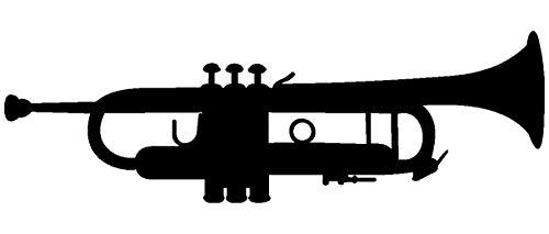Samunshi® Trompete Aufkleber Trompete Autoaufkleber in 9 Größen und 25 Farben (10x3,2cm schwarz)