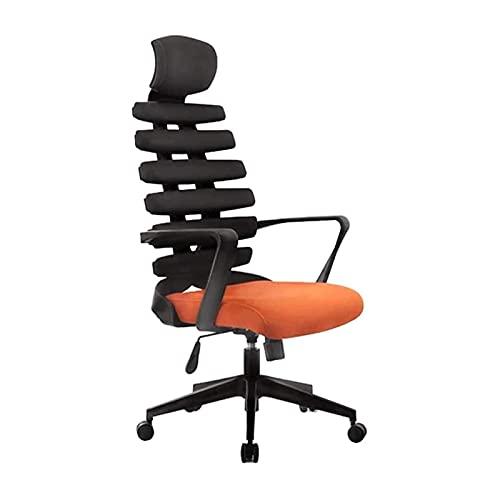 ZXNRTU Relájese cómodamente seguro Silla ergonómica de oficina, espalda alta ajustable con sillas de escritorio de reposacabezas con reposabrazos y silla de computadora de soporte lumbar for sala de c