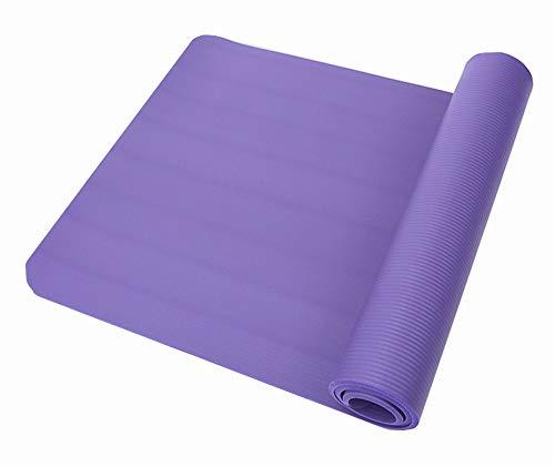 JHKGY Estera De Yoga Antideslizante Engrosada Ensanchada,Estera De Yoga Antideslizante Ecológica NBR,para Pilates Home Cómodo Construye Tu Cuerpo,Púrpura,186×90×1cm