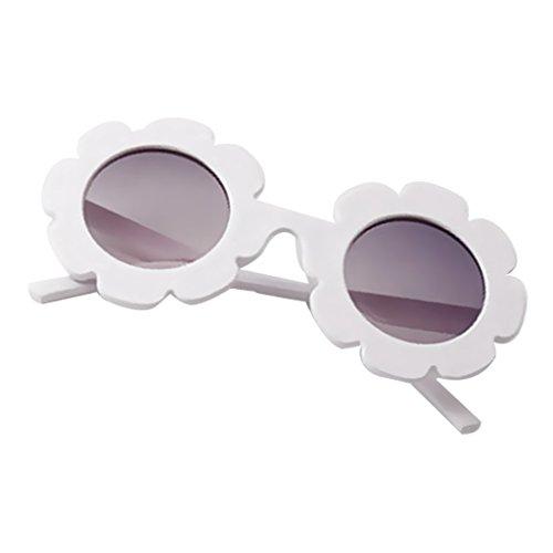 D DOLITY Lunettes de Soleil Designs Classique pour Garçons et Filles,Haute Protection Pr Enfants Vacances Plage Voyage - Blanc, Unique
