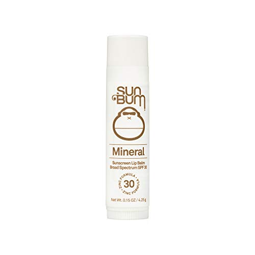 Sun Bum SPF 30 Mineral Sunscreen Lip Balm | Vegan and Reef Friendly (Octinoxate & Oxybenzone Free) Broad Spectrum Natural Lip Care with UVA/UVB Protection | .15 oz