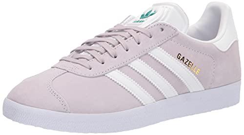 adidas Originals Women's Gazelle Sneaker, Purple Tint/Footwear White/Glory Green, 11