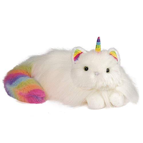 Cuddle Toys 4285 Ziggy CATICORN RAINBOW FUZZLE Chat avec Corn de Licorne, 35.5 cm longeur (Peluche)