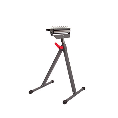 Protocol Equipment 3-in-1 Material Support Roller Stand, Can Convert Between Material Stop, Single Roller, or Multi-Ball Head, Powder-Coated Steel, 150-pound Capacity