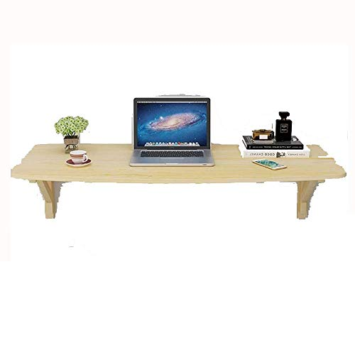 N/Z Daily Equipment Solid Wood Wall Hanging Table Folding Wall Table Fixed Wall Computer Desk Corner Special Shaped Wall Table Desk Kitchen Wall Table T (Size : 80 * 40cm)
