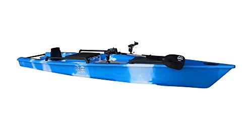 BKC MK13 13-Foot Solo Fishing Kayak w/Paddle (Blue Camo)