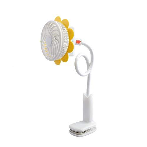 Ventilador USB Ventilador de clip for cochecito de bebé Ventilador de cochecito for bebé Ventilador USB Mini ventilador de forma de flor de USB recargable para el dormitorio de la oficina en casa