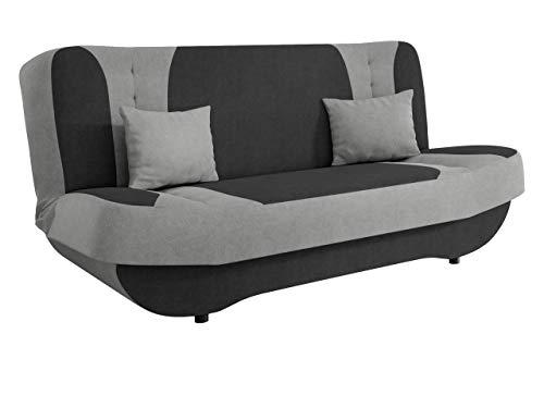 Mirjan24 Sofa Pinto mit Bettkasten und Schlaffunktion, Schlafsofa, Farb- und Materialauswahl, Wohnlandschaft, Couch vom Hersteller, Schlafcouch (Mono 247 + Mono 244)