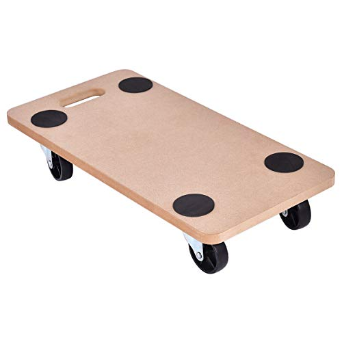 ERGOMASTER Dolly Mover Hard Wood for Max 500 LBS Heavy Duty Moving Funiture Dollies Carrier (23 x 11.5 Inches Squre)