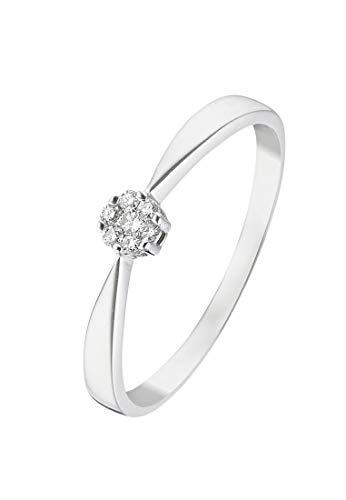 CHRIST Diamonds Damen-Damenring 375er Weißgold 7 Diamant 52 Weißgold 32004580