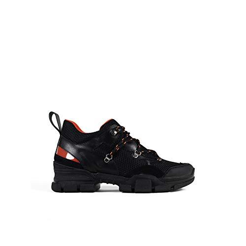 Un Paso Más - Sneaker Piel Black Mujer. Gianna (LET210). Color Negro. Zapatillas Casual Mujer (Numeric_36)