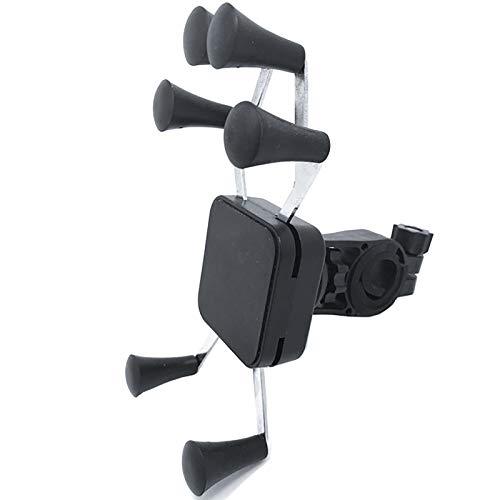 NgMik Tenedor de teléfono Celular de Bicicleta Soporte de teléfono móvil de Bicicletas Soporte de Metal 6-Jaw Montando Porta telefonía móvil Bolsa de teléfono de la Bicicleta