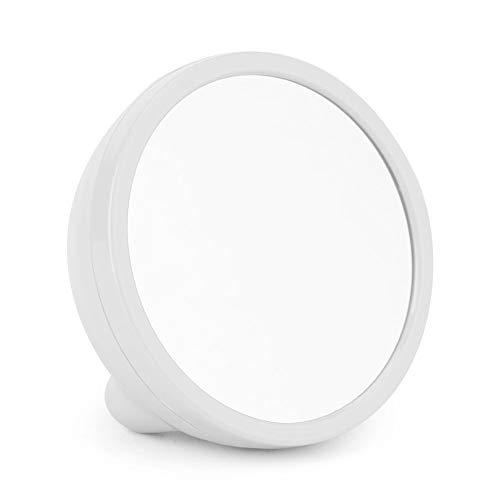 Fdit Mini Espejo Reloj Despertador Espejo Electrico Digital Reloj LED con Batería...