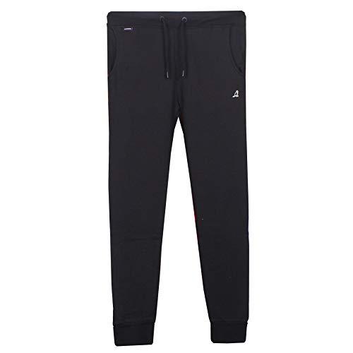 Kangol Jogginghose für Herren, Jogginghose, Trainingshose aus Baumwolle Gr. 34-37, schwarz-wander