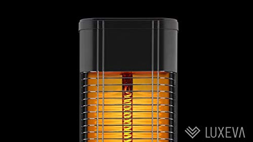 Luxeva Carbon Infrared Floor Heater Patio Heater for Indoor and Outdoor Use 2000 Watt Cover and Thermostat Modern Floor Heater