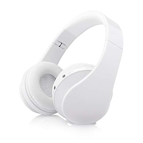 SFBBBO Auriculares Auriculares inalámbricos Bluetooth Música Estéreo Juego Deportivo Auriculares Soporte 3.5 mm Jack Blanco
