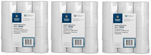 Business Source Receipt Paper 2.25 Inch x 150 Pack of 12 Rolls - White (28650) (?hr?? P?ck)