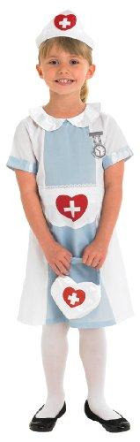 Rubie's Kinder Kostüm Krankenschwester Gr.L 7-8 Jahre Fasching Karneval Fastnacht