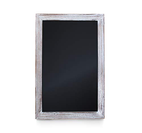 HBCY Creations Rustic Whitewashed Magnetic Wall Chalkboard, Extra Large Size 20