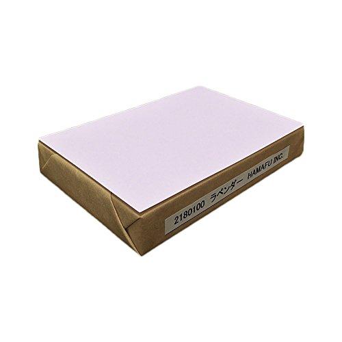 No.2180100-lavender ラベンダー色両面無地ハガキ・厚手 色上質・超厚口 (100x148) ☆100枚☆