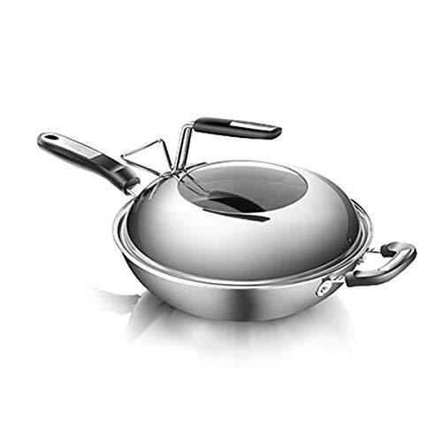 SHTSH Poêle, Sauteuse, antiadhésive, multi-fonctions Pot, Steak Poêle, Moins, une batterie de cuisine, Fumé de haute qualité, cadeau de mariage - 12,5 pouces lave-vaisselle Four Coffre, gris