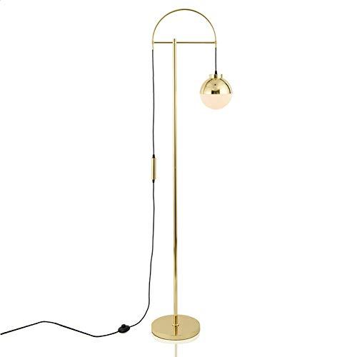 SXFYHXY Lampadaire Moderne Minimaliste créatif en Fer forgé Verre Boule Couverture Lampes de Table pour Salon modèle Chambre Chambre Cuisine allée éclairage,Gold,33x180cm