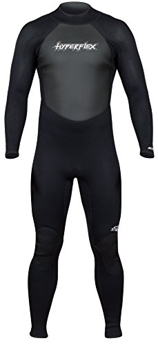 Hyperflex Men's and Women's 3mm Full Body Wetsuit – SURFING, Water Sports, Scuba Diving, Snorkeling - Comfort, Flexible and Anatomical Fit - and Adjustable Collar - Black, XL