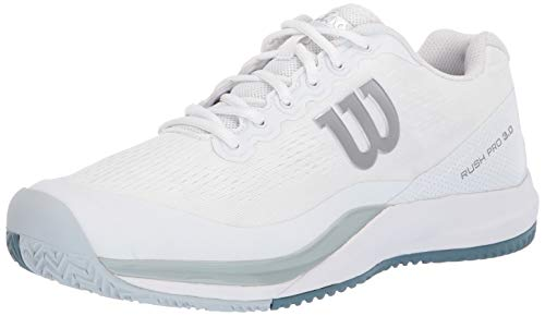 Wilson mens RUSH PRO 3.0 Tennis Shoe, White/Pearl Blue/Bluestone, 9.5 US