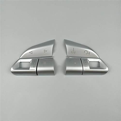 JIRENSHU Botones de Volante de ABS Cromado Lentejuelas Cubierta de decoración Accesorios...